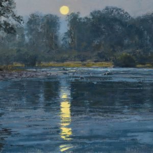 Whitcomb-Summer Moon-New ForkRiver oil 18x24 $8,600
