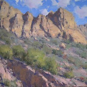 Young-Desert Rocks oil 10x12 $1,900