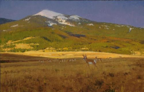 Oberg - 2008, Morning in Montana, 20x28