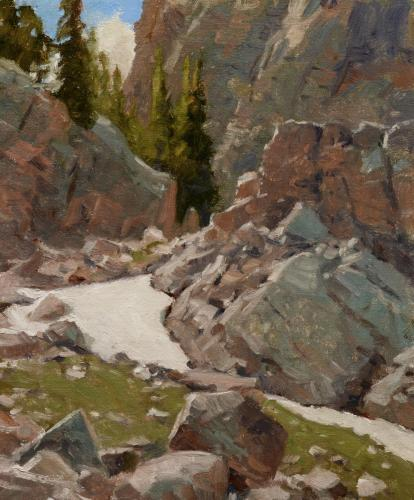 Oberg - 2016,  Rocks and Snowpatch, 12x10