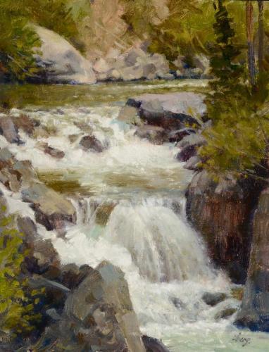 Oberg 16 - 2020, Elk River Falls, 14x11, Sold
