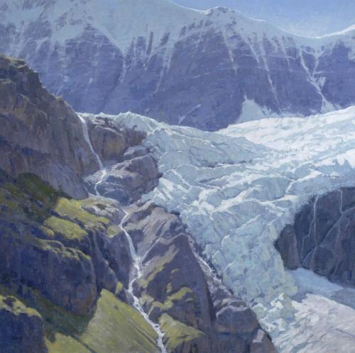 Oberg - 2011, Ice Fall,  42x42