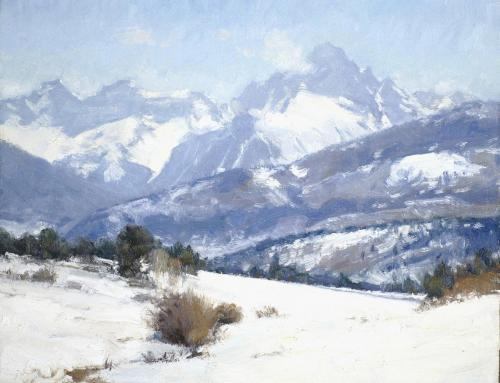 Oberg - 2008,  Mt Sneffels in Snow, 11x14
