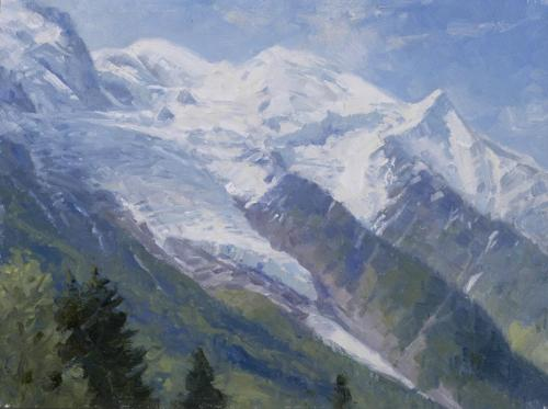 Oberg - 2015, Mount Blanc and Bossons Glacier, 12x16