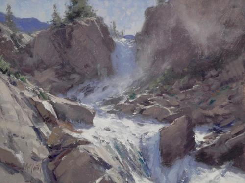 Smith - Grassy Lake Falls, 9x12, 2005