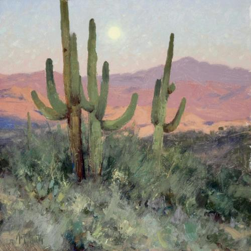 Smith - Sonoran Moonrise, 12 x 12, 2006