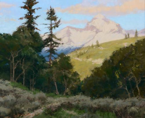 Whitcomb - Buck Mountain, Pastel 17x21