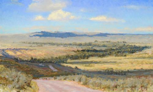 Whitcomb - Road to Dayton, 17x28, $9,100