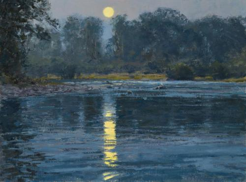 Whitcomb - Summer Moon-New Fork River, 18x24, $8,600