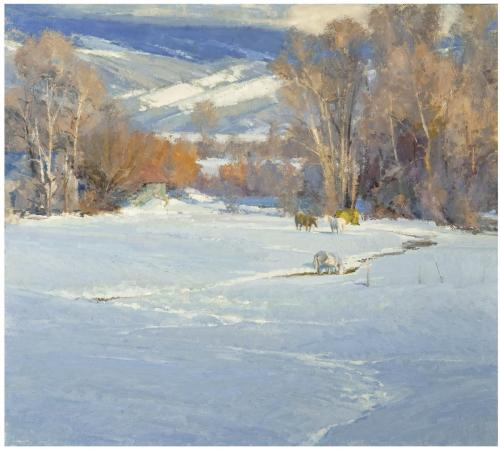 Whitcomb - Winter Pasture,  36x40