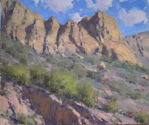 Young - Desert Rocks, 10x12, $1,900