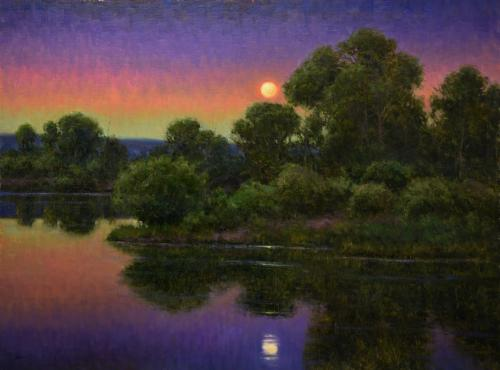 Young - The Strawberry Moon, 30x40, $12,000