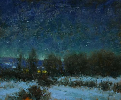 Young - Winter Night Lights, 10x12